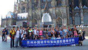 Unsere Gastschüler aus China, gemeinsam mit den deutschen Gastgebern